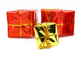 Three toy gifts — Stock Photo