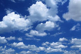 Massive cumulus clouds — Stock Photo