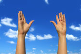 Hands up — Stock Photo