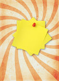 Paper page with adhesive note — Stock Photo