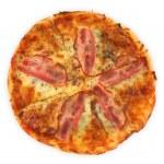 Постер, плакат: Pizza with bacon