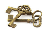 Three old keys — Stock Photo
