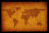 Old dirty world map — Stock Photo