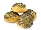 Poppy seed bread rolls — Stock Photo