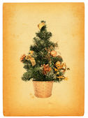 Retro christmas tree — Stock Photo