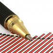 Pen tip and business chart — Stock Photo #2320268