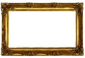 Old sculpted golden frame — Stock Photo