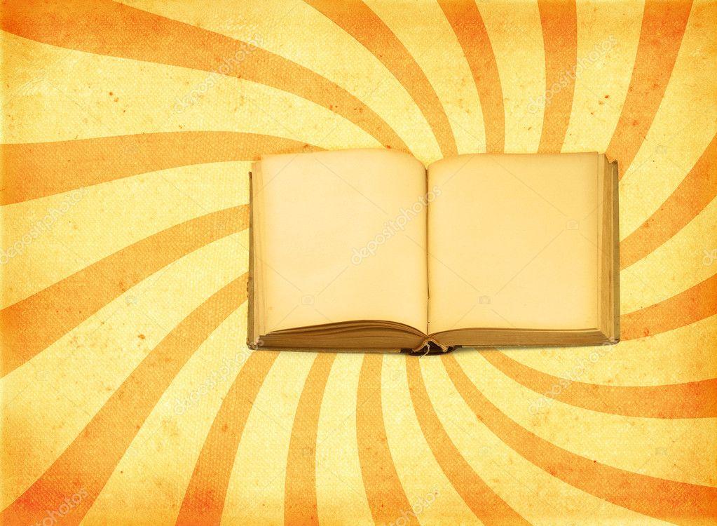 老打开书本装饰复古背景– 图库图片