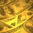 Money background with shallow DOF — Stock Photo
