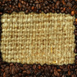 Coffee frame with burlap copy space — Stock Photo #2367732