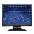 LCD screen with electronic wallpaper - Stock Photo