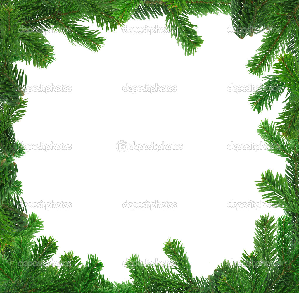 Xxl image of square spruce twig frame — Stock Photo #2367963