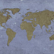 Stock Photo: Grungy textured world map