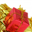 Gifts stack — Stock Photo