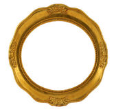Circular golden frame — Stock Photo