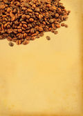 Coffee beans with retro copy space — Stock Photo