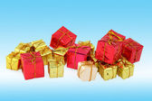 Group of various christmas gifts — Stock Photo