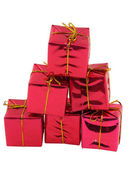 Stack of gifts — Stock Photo