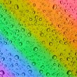 Rainbow water drops — Stock Photo #2676048