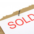 Stock Photo: Sold property sign