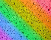 Rainbow water drops — Stock Photo