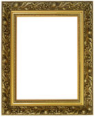 Horizontal golden frame — Stock Photo