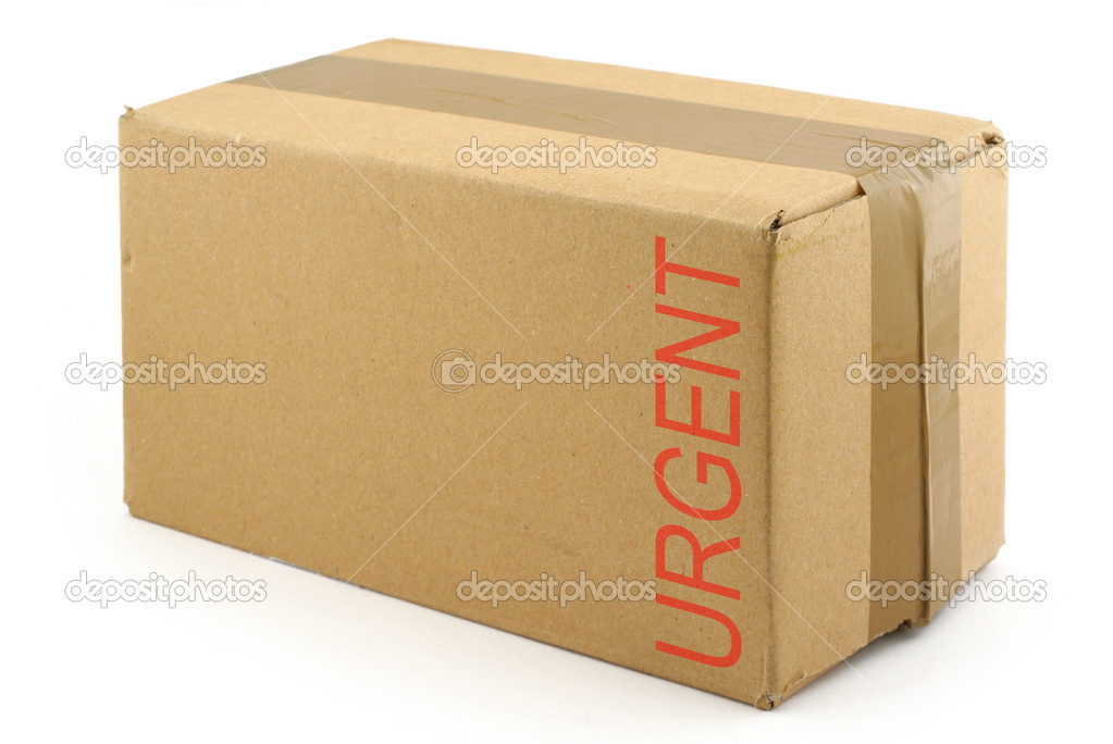 Priority package isolated on white background   Stock Photo #2676038