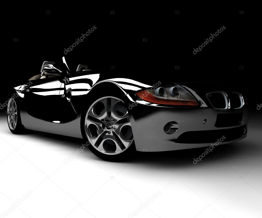 A front black car — Stock Photo #2123205
