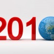 2010 and earth — Stock Photo