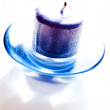Blue candle — Stock Photo