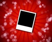 Polaroid frame on a red background — Stock Photo