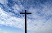 Cielo y cruz — Foto de Stock