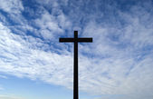 Sky and cross — Stock Photo