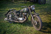 Antique motorbike used by army in Second — Stock Photo