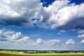Landscape with beautiful clouds — Stock Photo
