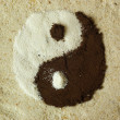 Natural Ying Yang symbol — Stock Photo #2540739