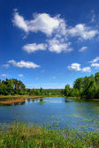 Beautiful lake in the countryside — Stock Photo