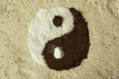 Natural Ying Yang symbol — Stock Photo