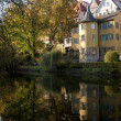 Hoelderlin Tower, Tuebingen - Stock Photo