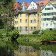 Hoelderlin Tower, Tuebingen, Germany - Stock Photo