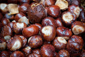 Wet chestnuts — Stock Photo