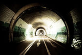 Tunnel by night — Stock Photo