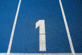 Number 1 on a running track — Stock Photo