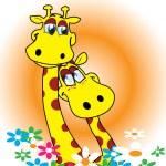 Two happy giraffes — Stock Vector #2141269