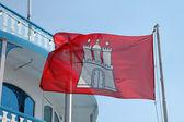 Flag City of Hamburg — Stock Photo