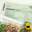 German tax form 2009 — Stock Photo