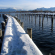 Boat harbour at chiemsee — Stock Photo #2197923