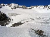 Skipiste am Gletscherbruch — Stock Photo