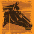 Grunge vintage horse head — Stock Vector #2173457