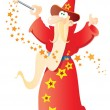 Royalty-Free Stock Vector Image: Funny cartoon wizard